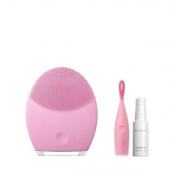 露娜2净透舒缓洁面仪(粉色)套装