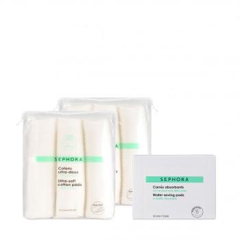 化妆棉三件套惠选套装(柔肤+ 省水)
