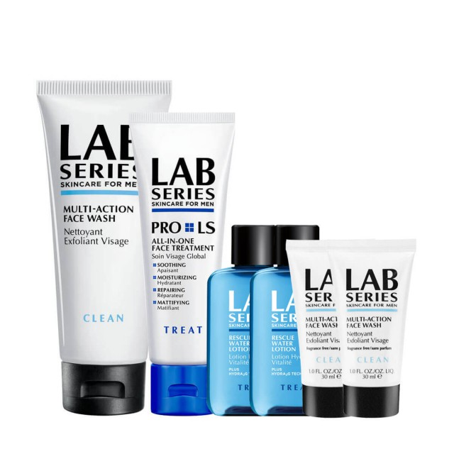 LAB SERIES多功能洁面乳&多效保养乳液惠选套组