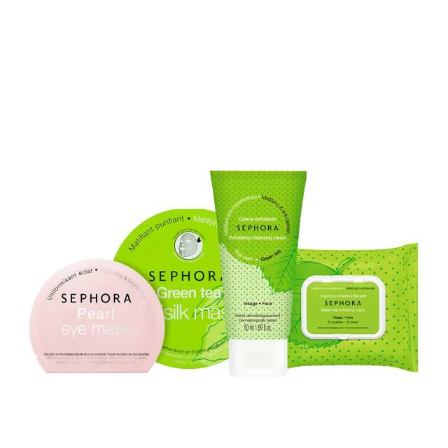 丝芙兰玩趣绿茶清洁系列惠选套装